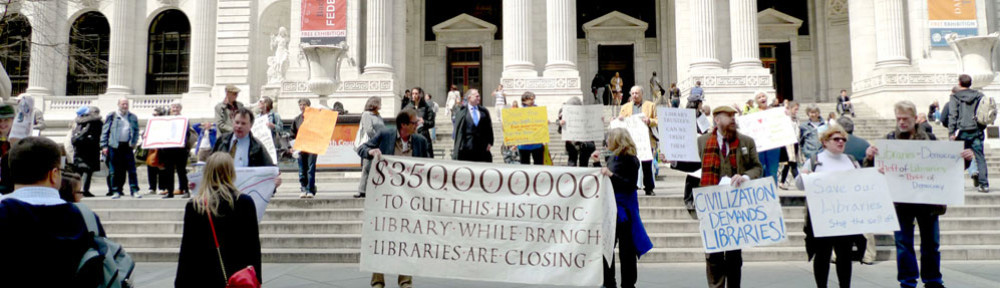 The Committee to Save the NYPL rally